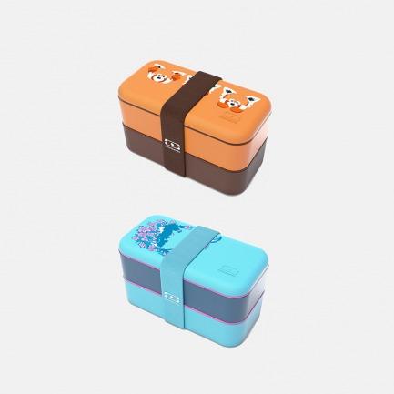 法国原创午餐盒 | 双层分格便当盒可微波炉加热【印花款】