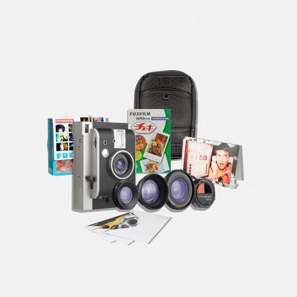 LOMO 拍立得相机 黑山 真皮限量版镜头连分镜器套装【良仓春游特别套装】