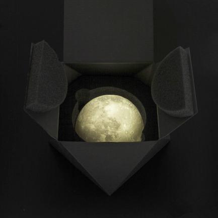 雕塑艺术家黄玉龙-Artmis半圆形月亮灯