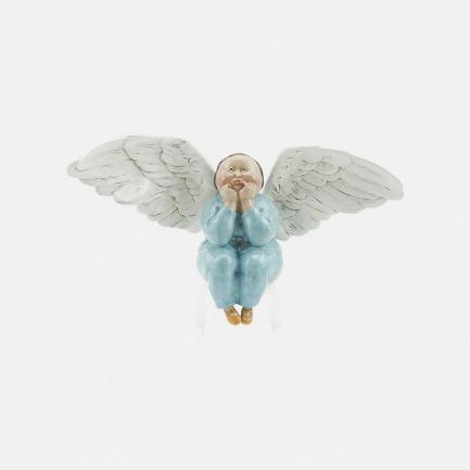 瞿广慈艺术雕塑 天蓝色 节庆女天使