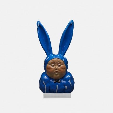 瞿广慈艺术雕塑 兔男郎II 蓝色版