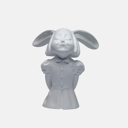 向京艺术雕塑 我看到了幸福-纯净白