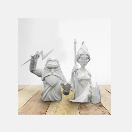宙斯与雅典娜雕塑