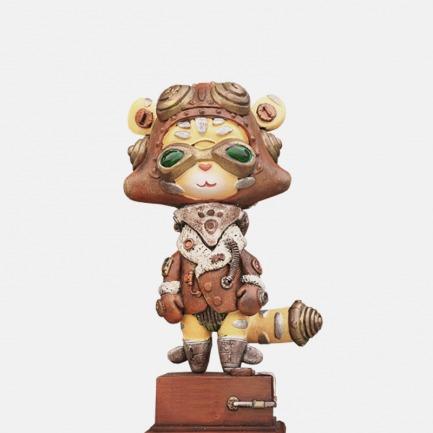 """老虎""""莉亚""""彩色版 艺术雕塑"""