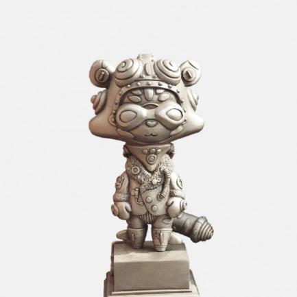 """老虎""""莉亚""""铁锈色版 艺术雕塑"""