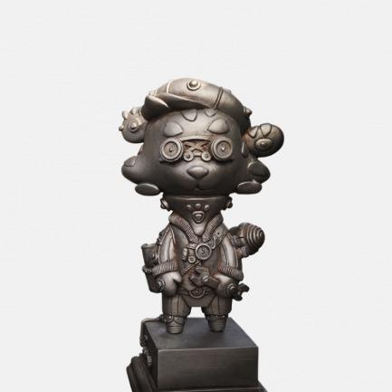 """老虎""""霍华德""""铁锈色版 艺术雕塑"""