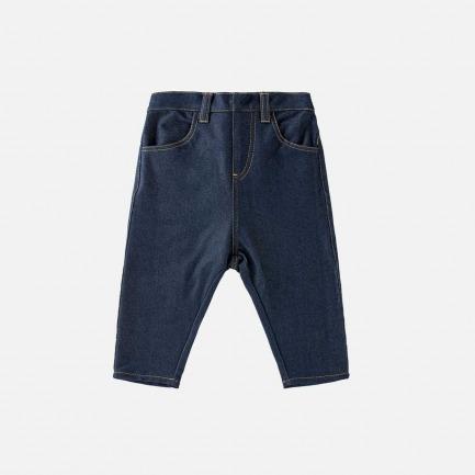 针织牛仔锥形裤(蓝色)