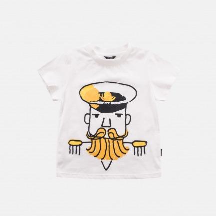 精梳棉船长印花T恤