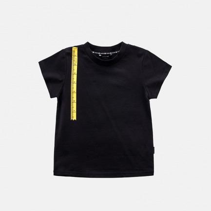 精梳棉米尺印花T恤(黄米尺-乌黑)
