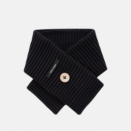 精梳棉谷波纹围巾(乌黑)