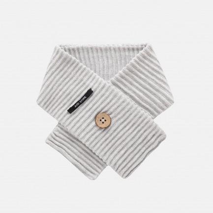 精梳棉谷波纹围巾(浅灰)