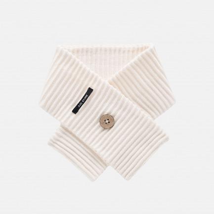 精梳棉谷波纹围巾(雪花白)