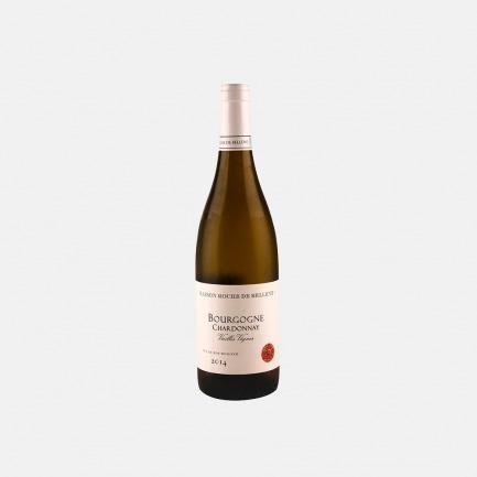 勃艮第霞多丽老藤白葡萄酒