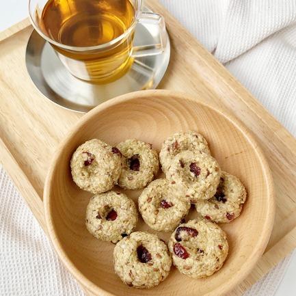 无面粉无蔗糖饼干 藜麦亚麻籽蔓越莓