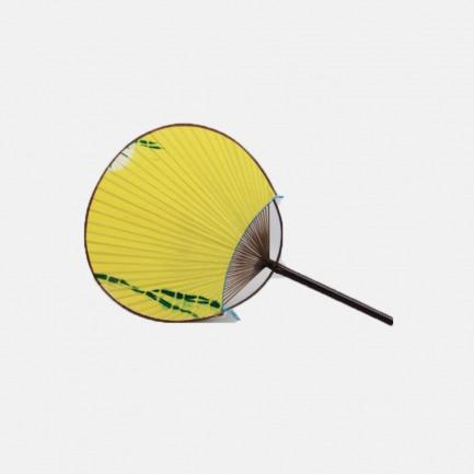 日式布面竹蒲扇 黄色