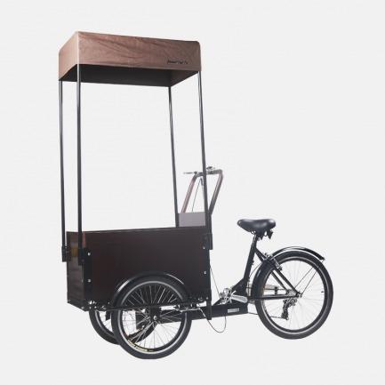 复古黑色三轮甜点车 | 甜点商品陈列/贩售可用