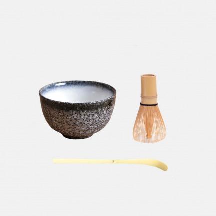 竹制抹茶刷百八十本立常穗 日式茶道碗茶具工具三件套