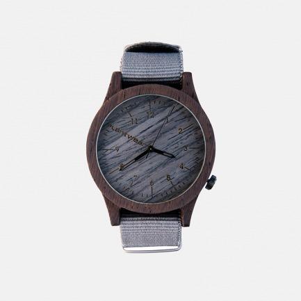 Plantwear欧洲手工实木制手表- Heritage series-Grey Edition- Ebony-银石灰-黑檀木
