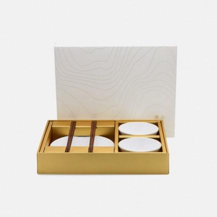 流金岁月餐盘对装 | 质感高级的镁质瓷打造