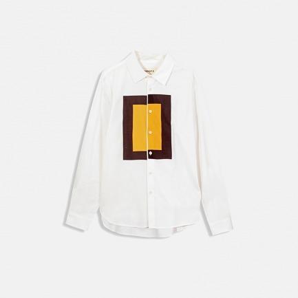 主题图案长袖衬衫