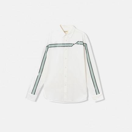 组合印花长袖衬衫(两色)