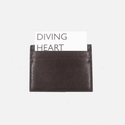 Diving Heart潜水心系列十字纹头层牛皮卡包(两色)