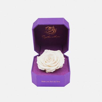 秘密/白色恋人永生花巨型玫瑰