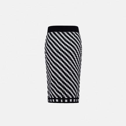 黑白几何图案半裙