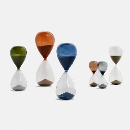 时间沙漏计时器 | 北欧简约风格 玻璃外壳搭配彩色细沙