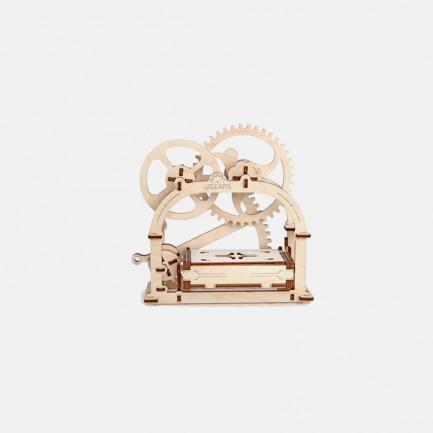 乌克兰木质机械传动模型|名片匣 无需胶水|机械传动|天然桦木压制|组装精密