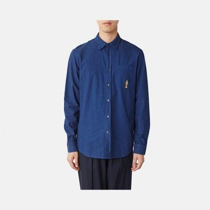 Triple-Major 刺绣图案单宁衬衫