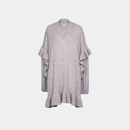 V领毛衣裙(两色可选)