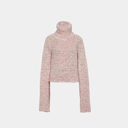 意大利进口纱线 高领针织衫(两色可选)