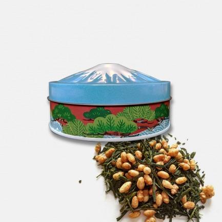 日本原装进口高级玄米茶 静冈富士山茶罐装