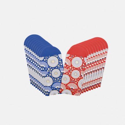 灯花和风款 烫金纸扇图案红包【每款10张红包】(两色可选)