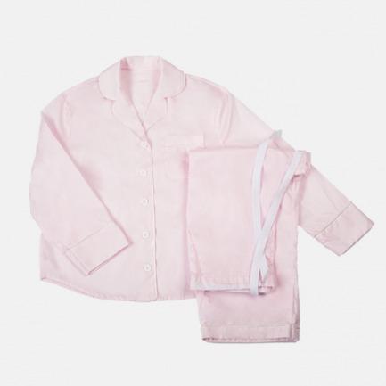 60'系列 粉色pima美棉睡衣套装(长袖长裤套装)