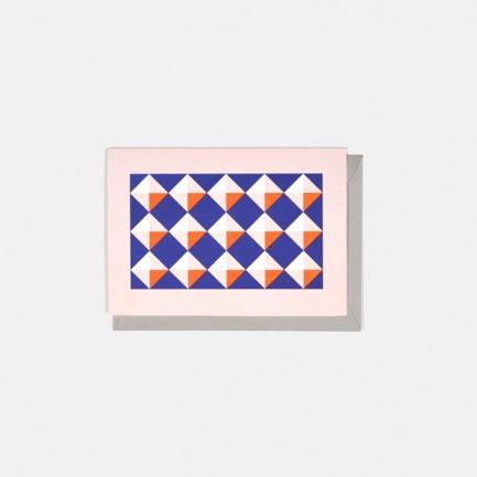 几何撞色设计 小方块撞色祝福卡3个装