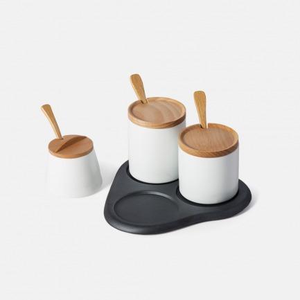 复古典雅设计 灶味系列调味罐套装