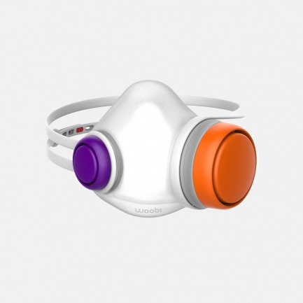 自由搭配9种配色儿童专用防霾口罩 食品级硅胶5层滤芯360度深度净化