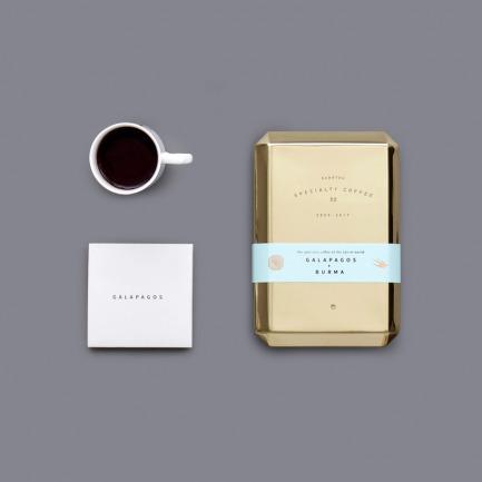 缅甸/加拉帕戈斯有机咖啡/烫金杯/铜盒 新年礼盒