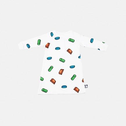 TIKKITOKKI创意童装礼盒/食物系列/【糖块|卫衣裙】