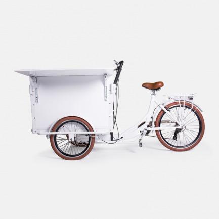 三轮折板咖啡车-白色