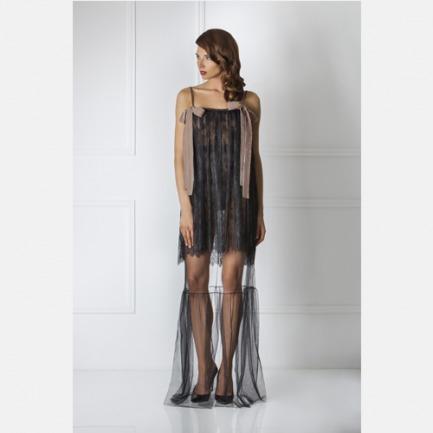 Amoralle极致性感 双层蕾丝吊带睡裙