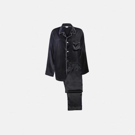 Classic长袖睡衣套装(男士)-经典黑