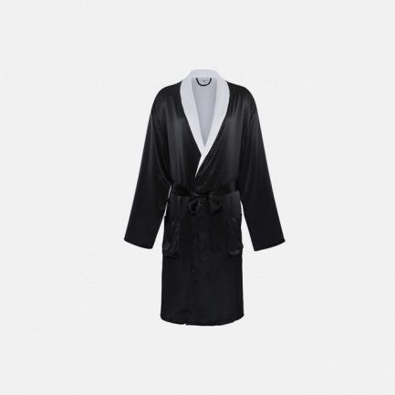 触感丝滑色泽高级 Silk Terry男式睡袍-经典黑