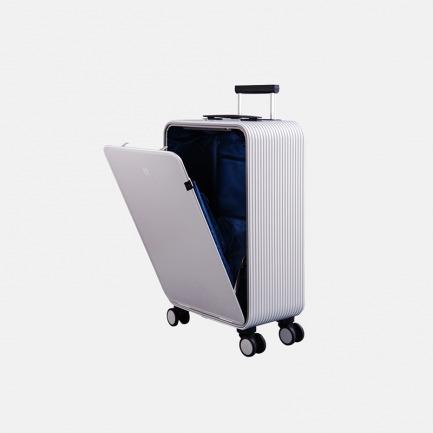 轻金属竖开合收纳登机旅行箱 安检神器 按键即开 站着就能轻松取物【钻石银】