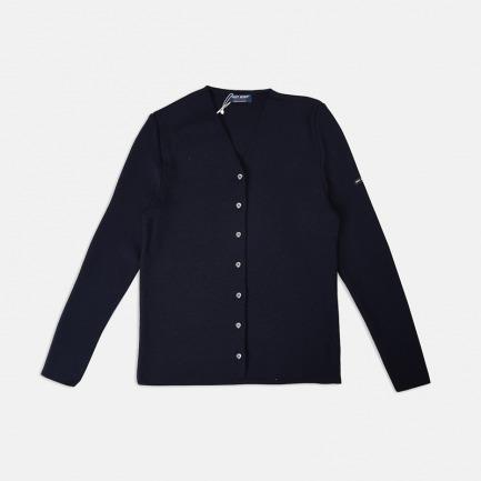 纯色羊毛开衫 深蓝色 1588-CC