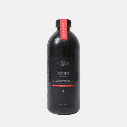 冷萃技术口感醇厚 特浓冰滴咖啡大瓶分享装 1升装