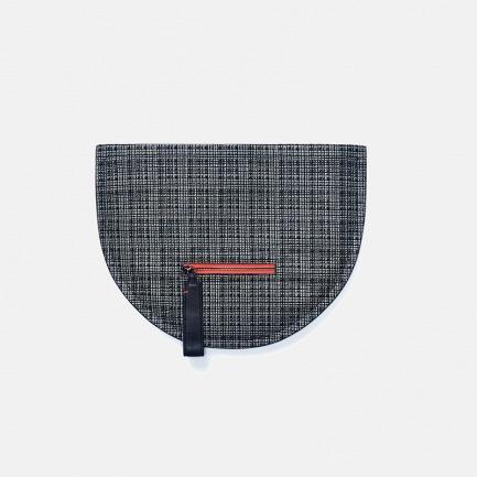 独立设计师品牌真皮二维结构 羊皮手拿包晚宴包 格子色