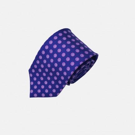 Napoli 亮蓝色印花领带